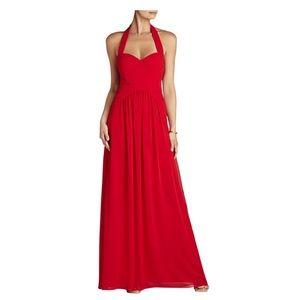 BCBG Selene Halter Red Dress